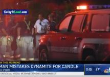 woman lights dynamite