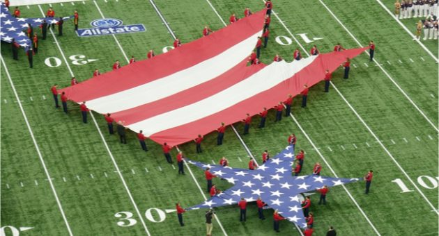 American Flag Halftime Show
