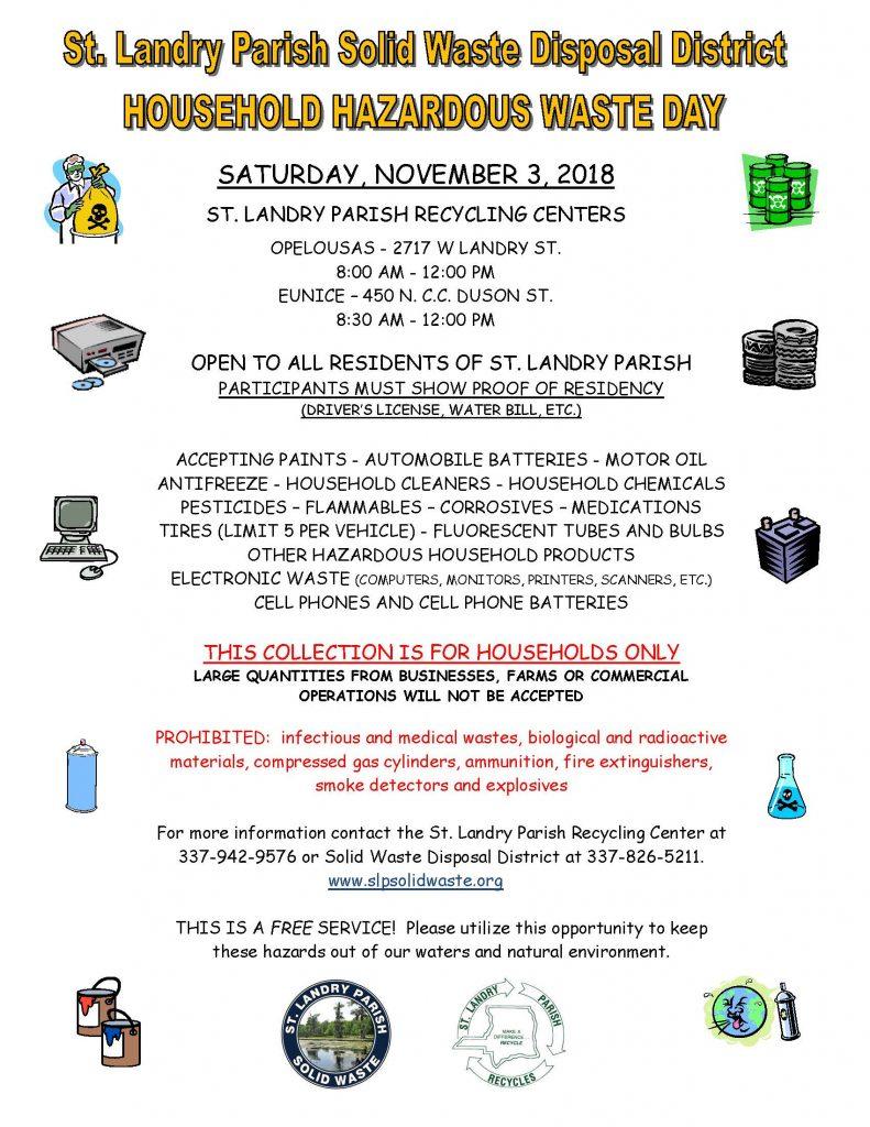 St  Landry Household Hazardous Waste Day | Big 102 1 KYBG-FM