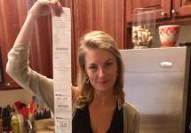 lady has 6 foot cvs receipt