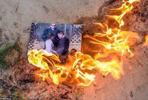 burning divorce photo
