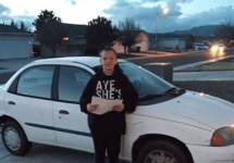 kid buys car for mom
