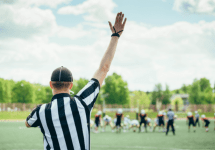 referee at football game