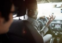 driver asks passenger question