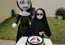 three year old birthday party the nun horror movie