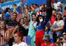 american fans at world cup