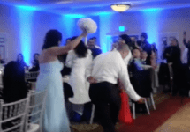 Wedding party introduction goes wrong