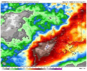 90L Rainfall Potential
