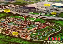 Astroworld and Astrodome Postcard 1970s