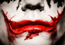 heath ledger joker lips