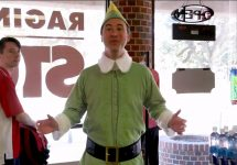Buddy The Elf On The UL Campus