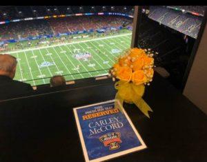 Carley McCord Sugar Bowl Tribute