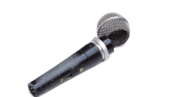 broken microphone