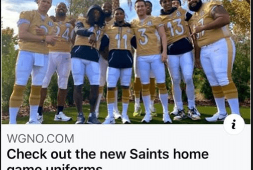 wgno saints uniforms saints news