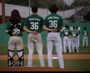 Lafayette High Baseball Players Wearing Tony Robichaux Uniforms