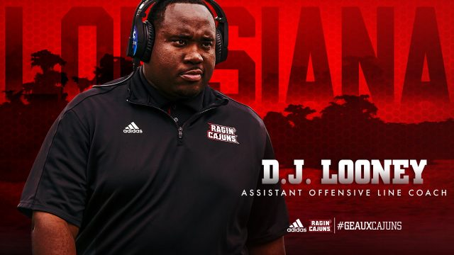 Ragin' Cajuns Assistant Football Coach DJ Looney