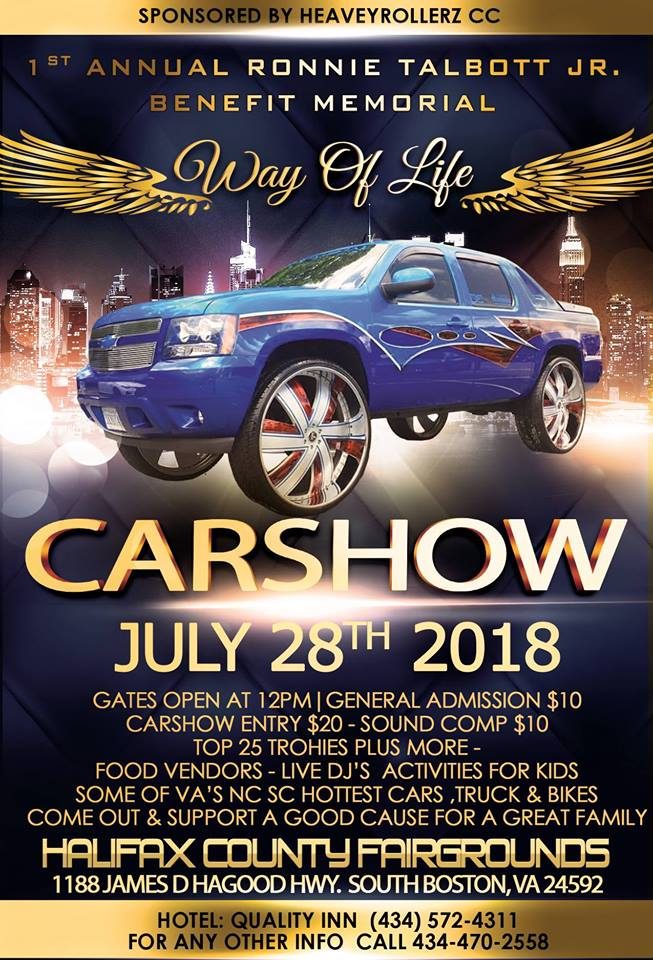 Ronnie Talbott Jr Benefit Memorial Car Show WAKG - Boston car show 2018