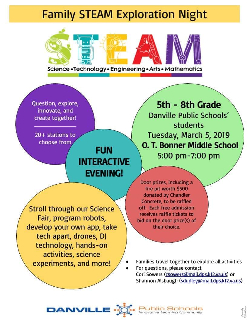STEAM Exploration Night at Bonner Middle School | 103 3 WAKG
