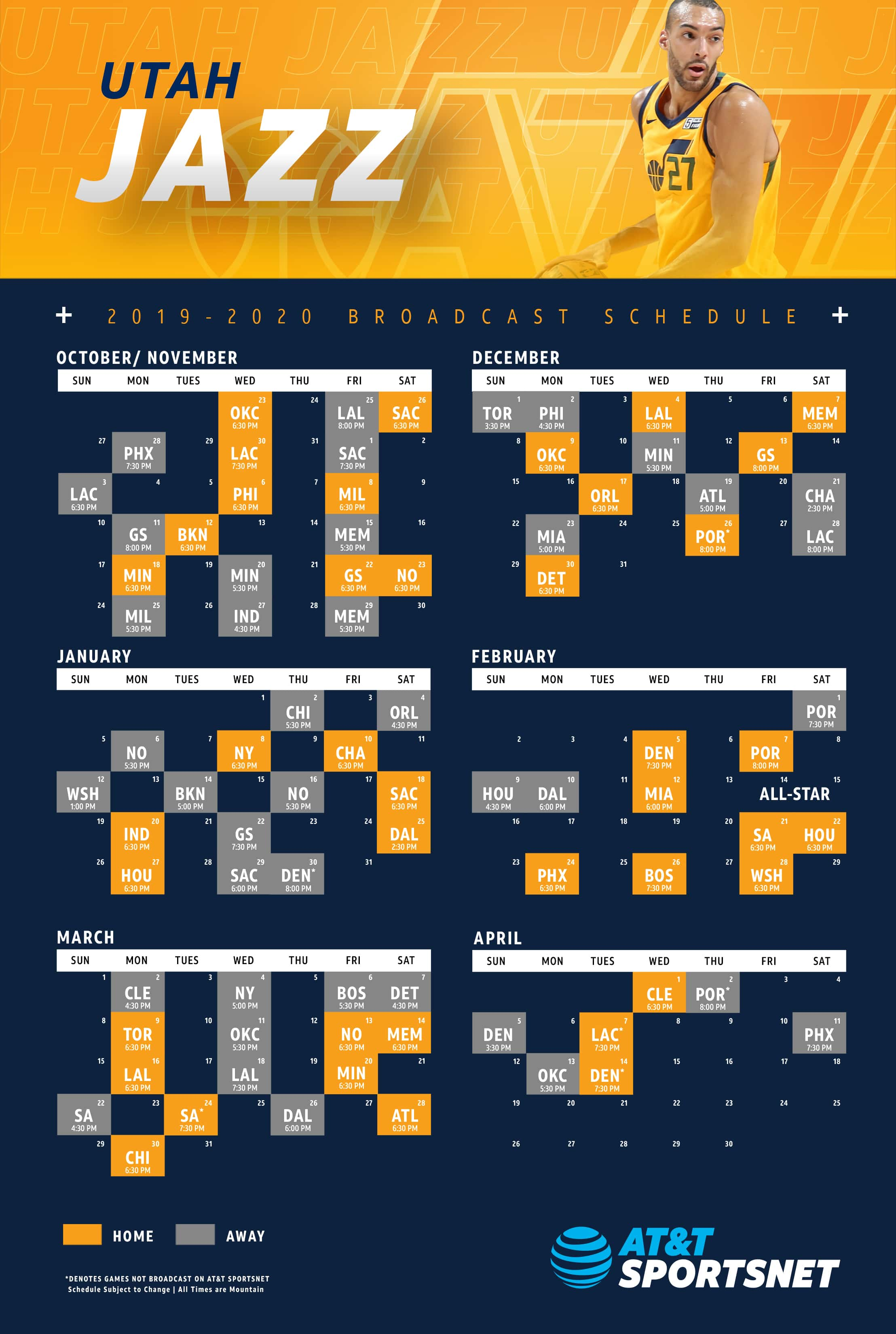 It's just a picture of Striking Utah Jazz Schedule Printable