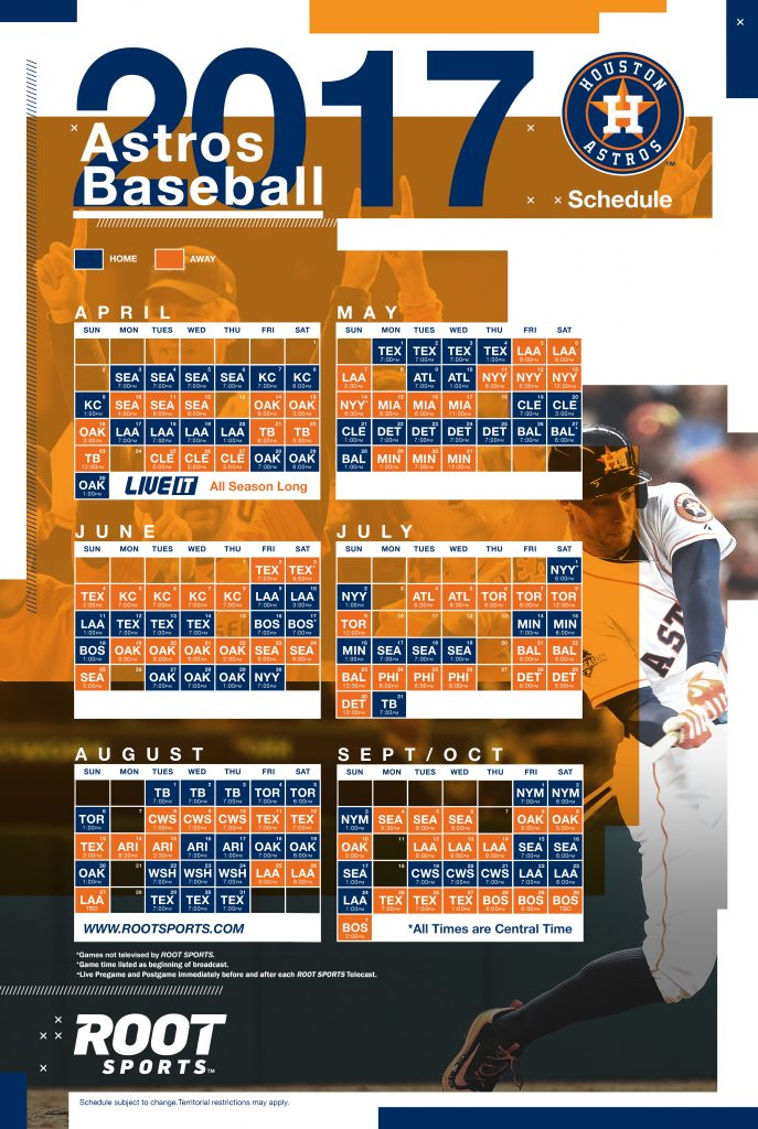 graphic regarding Astros Schedule Printable identify Houston Astros ATT SportsNet.