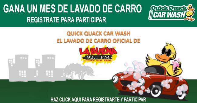 GANA UN MES DE LAVADO DE CARRO EN QUICK QUACK CAR WASH