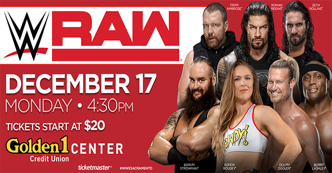 WWE MONDAY NIGHT RAW: LLEGA A SACRAMENTO!
