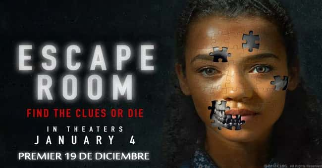 ESCAPE ROOM EN CINES EL 4 DE ENERO, 2019