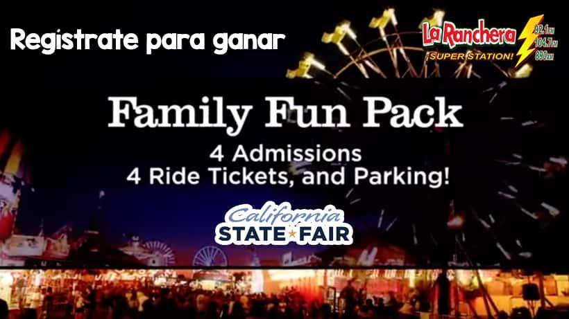 Regístrate y Gana Un Family Fun Pack para la Feria Estatal De California