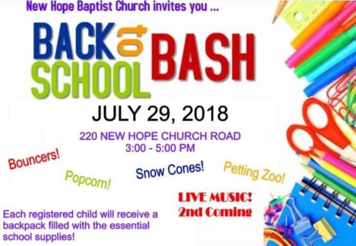 New Hope Church Hosts Back To School Bash Wkdz Radio