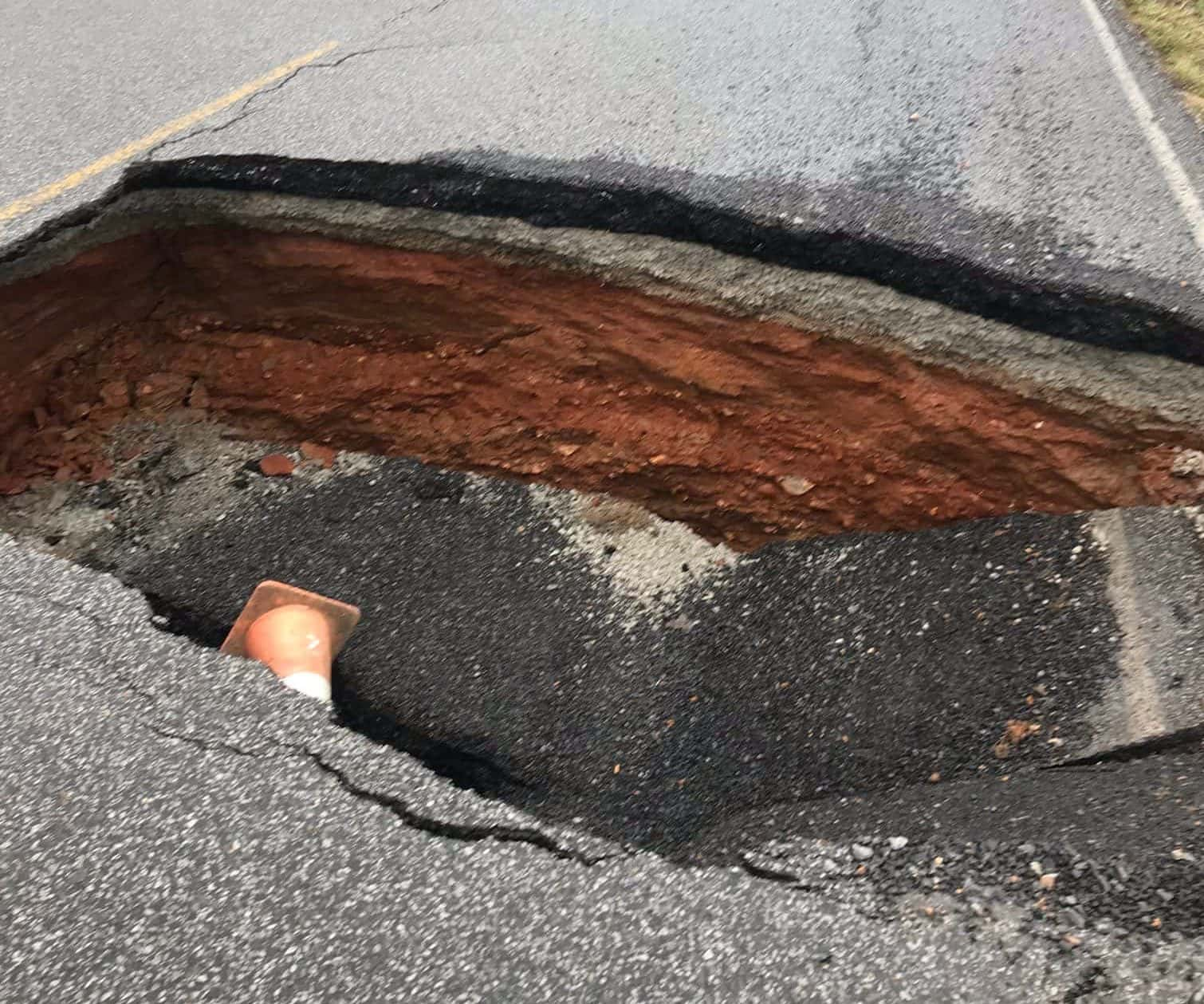 Cadiz Kentucky Weather: Portion Of Trigg Road Closed Due To Sinkhole