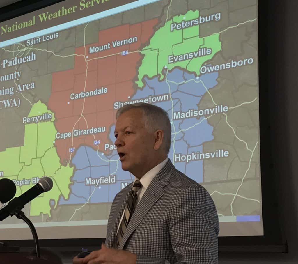 Cadiz Kentucky Weather: Shanklin Discusses Severe Weather At PADD Meeting