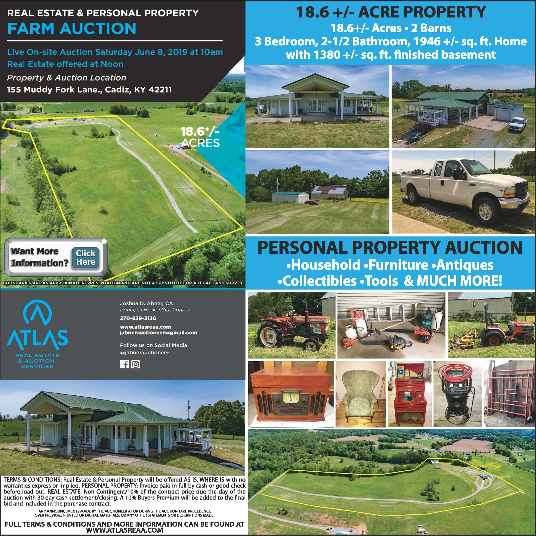 Cadiz Kentucky Weather: Farm Auction With Atlas Real Estate & Auction June 8