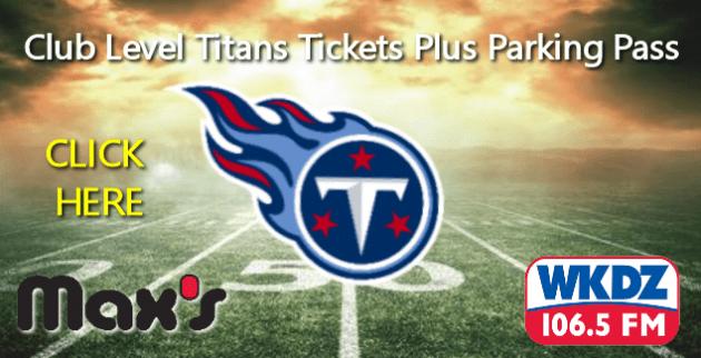 Titans Ticket Giveaway | WKDZ Radio