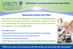 Dementia Activity Care Plan Post Card