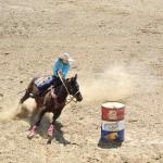 Trista & her horse, Boogie run barrels at the North Dakota State High School Finals, June 13-17, in Bowman, ND. (Photo by Connie Soderholm)