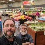 Looking good at Bashas: Jimmy Wilson, back, and Brian keeping the bins full at Bashas