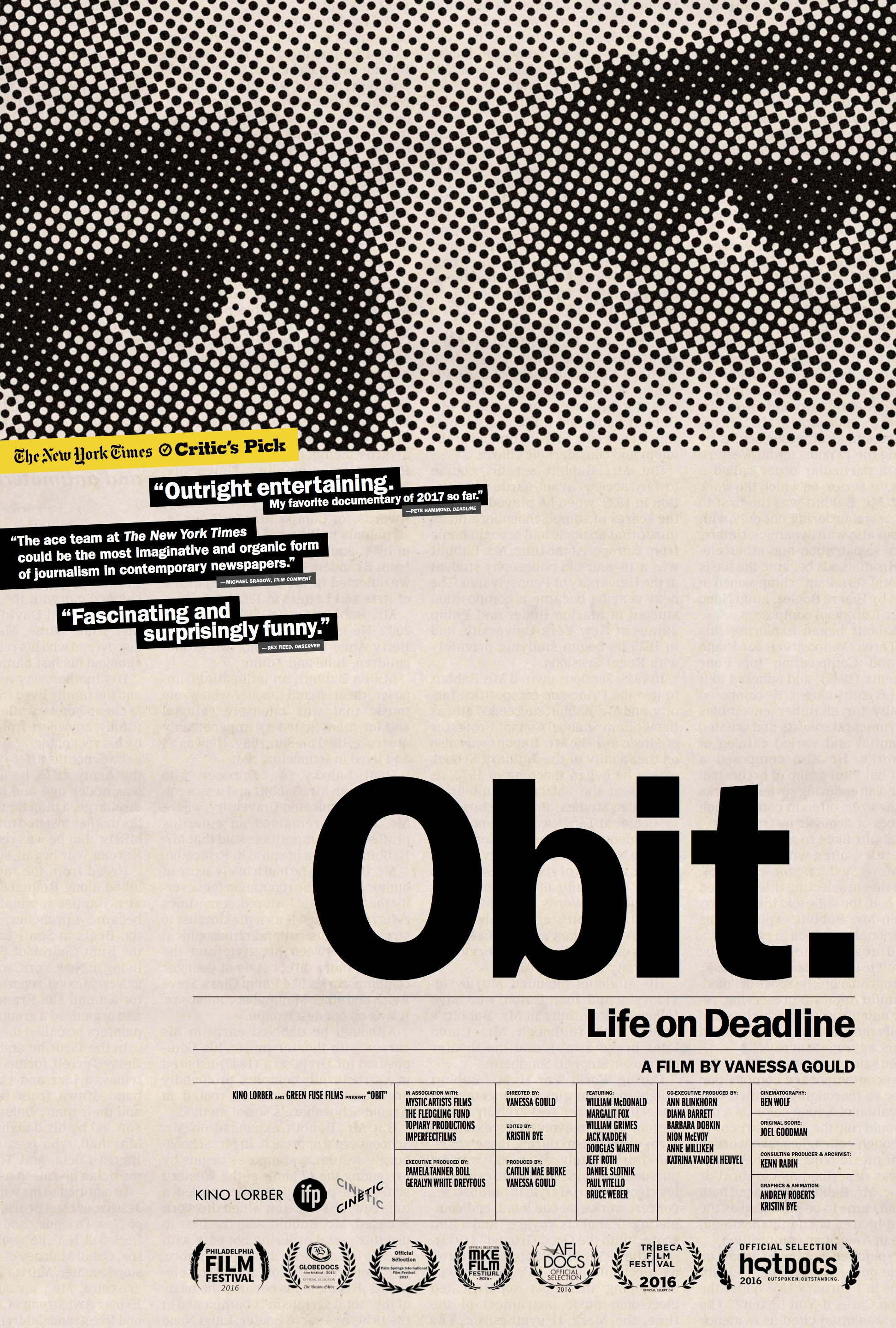 Movie: OBIT: An inside look at life on the New York Times