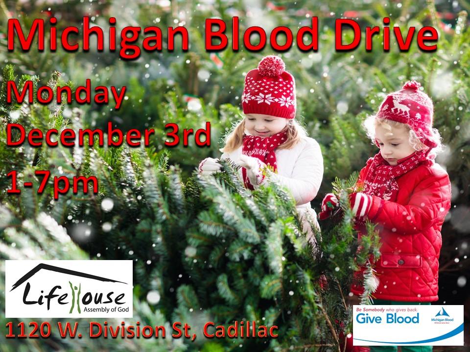 Christmas Blood Drive.Michigan Blood Drive 89 9 Wljn