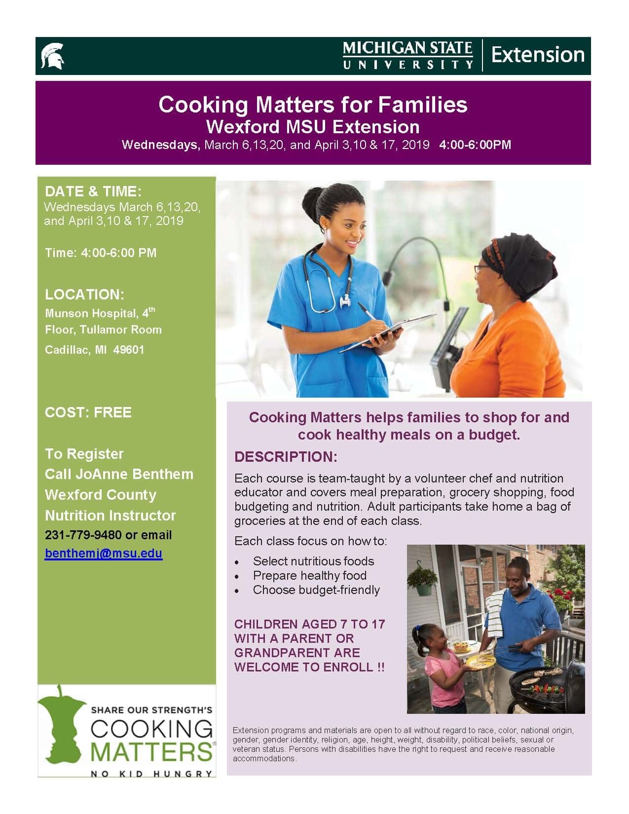 Cooking Matters for Families | 89 9 WLJN