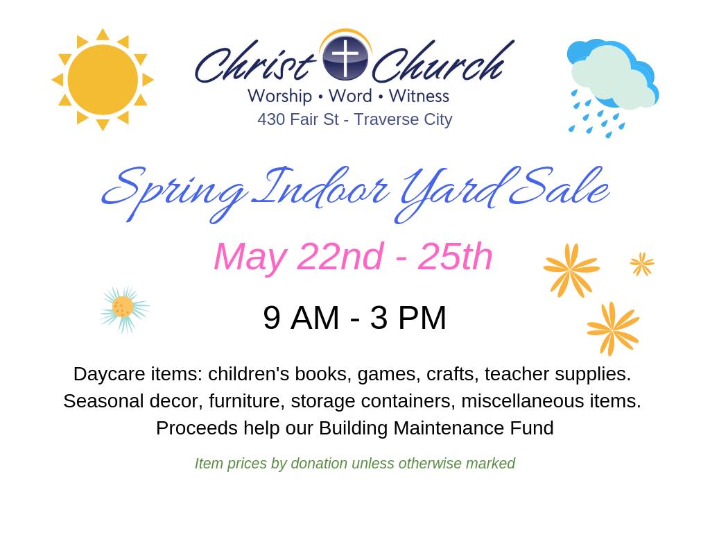 Christ Church Indoor Yard Sale | 89 9 WLJN
