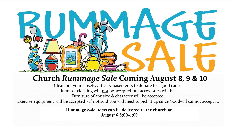 Church Rummage Sale   89 9 WLJN
