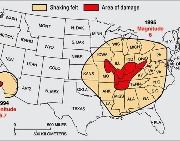 Fault Lines In Missouri Map.The Dangerous New Madrid Fault Whvo Fm Part 22550263
