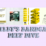 """Purple background that reads """"Shelby's Bandcamp Deep Dive"""". The top features four album covers from bandcamp artists mentioned in this article"""