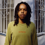 Earl Sweatshirt standing outside of his home in L.A.,