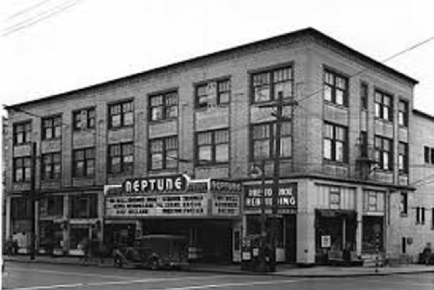 Black and white image of the Neptune Theatre in 1946