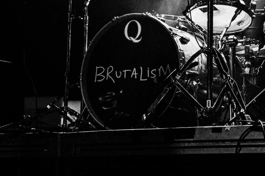 The Drums' drumhead proclaiming the name of their latest album.