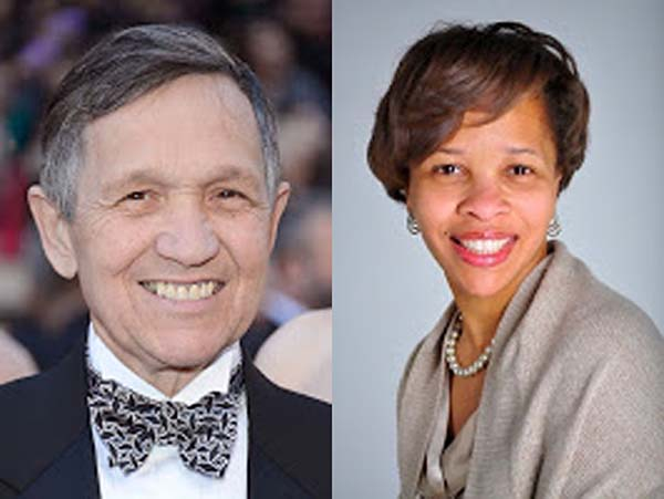 Dennis Kucinich and Tara Samples