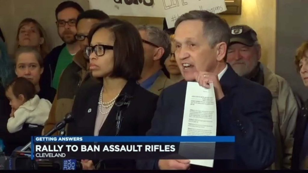 Dennis Kucinich - Rally to ban assault weapons