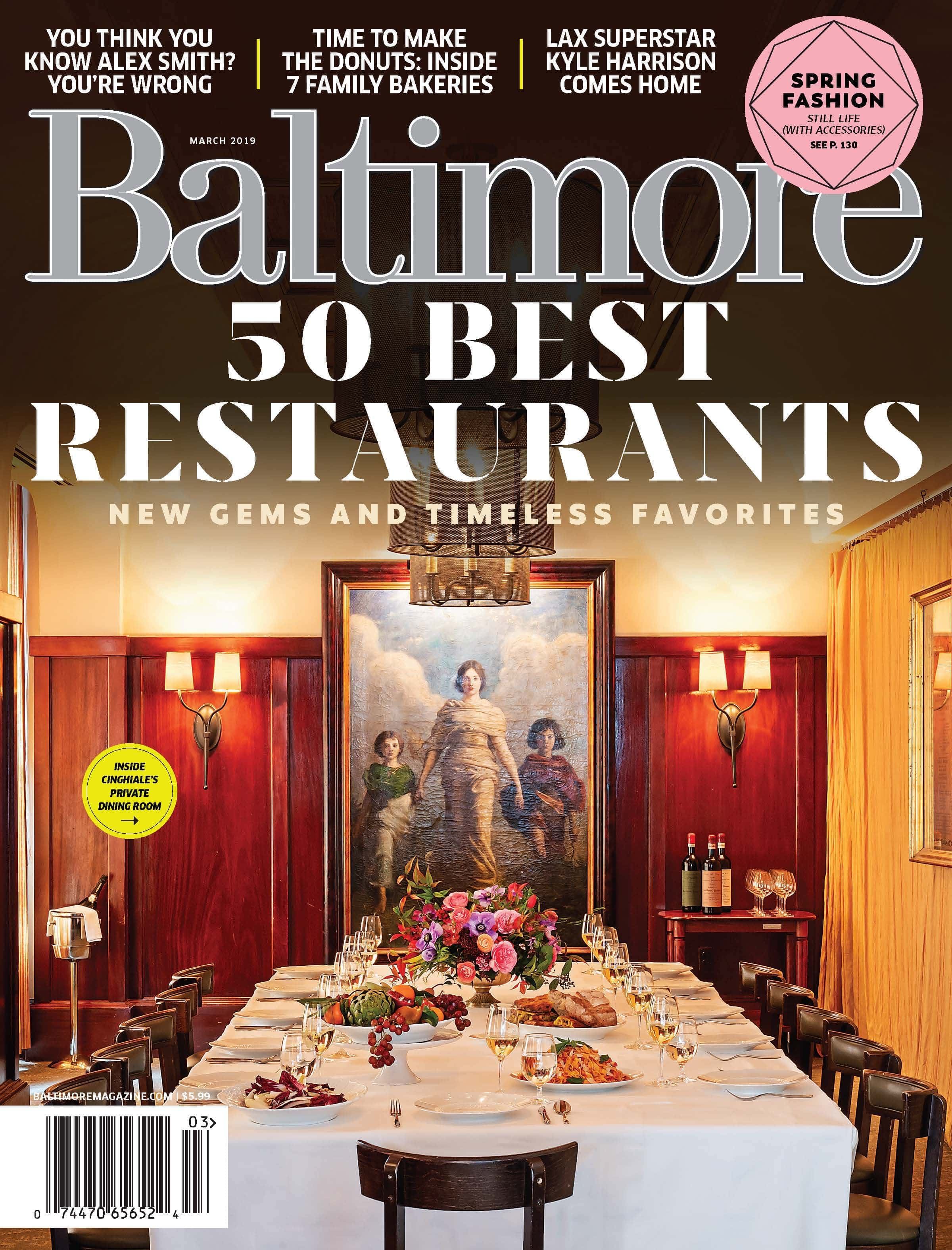March S Baltimore Magazine Sure Looks Good The Best 50