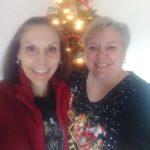 Winner Erin from Timonium on the left with sister Tara: Fill Your Fridge Giant Gift Card Winner